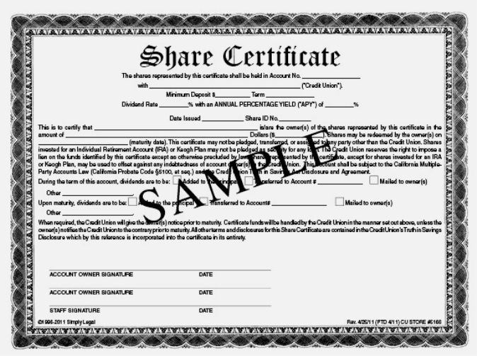 Share Certificate Sample ...